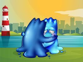 Ein Monster, das eine Schulter gibt, auf der man nach einem Freund schreien kann vektor