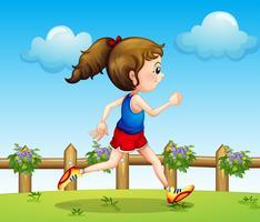 Ein Läufer vektor