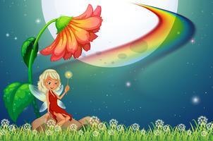 Fe och blomma vektor