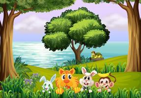 Tiere im Wald vektor