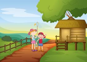 Kinder und Haus