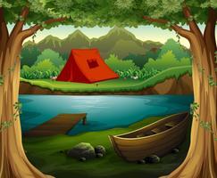 Campingplats vektor