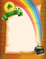 Ett papper med St Patrick's symboler