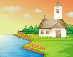 ein Haus am Ufer