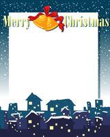 Eine leere Weihnachtskartenschablone vektor