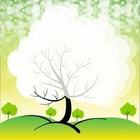Ein Briefpapier mit Bäumen vektor