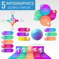 Satz Balldaten Infographics-Elemente 3D, Darstellung, Geschäftsprozessdesign, Vektorillustration.