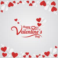 Valentinstag Hand Schriftzug vektor