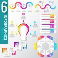 Sats av infografiska elementdata vektor
