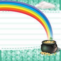 En kruka full av mynt med en klöverväxt