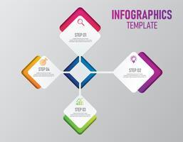 Färgglada infographics av företagspresentation