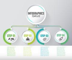 Modernes Infographic-Elementvektordesign, Schablone des Diagramms mit Schritt. Vektor-Illustration.