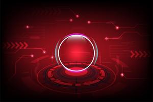Abstrakter Technologiehintergrund mit dem futuristischen Hightech- Konzept