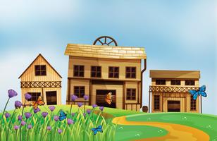 Häuser verschiedener Stile