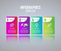 Färgrik Infographics malldesign vektor