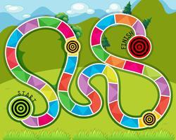 Labyrint spel vektor