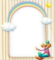 En tom yta med en kvinnlig clown vektor