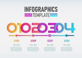 Vektor modern Infographic 3d etikett, mall design.