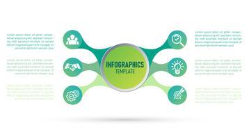 Vektor av infografisk mall för ditt företag och marknadsföring.