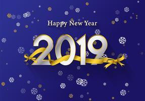 Gyllene lyckliga nyårsbakgrund