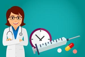 Doktorhälsovården (kvinna) vektor