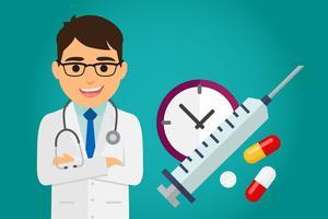 Doktorhälsovård vektor
