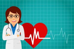 Ärztin im Gesundheitswesen (Frau) vektor