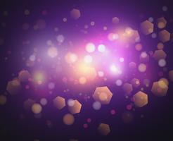 Bokeh lampor och glitter bakgrund Vector