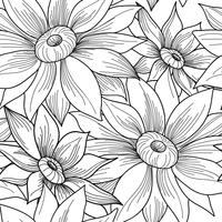 Nahtlose Blümchenmuster Blumensonnenblumen-Strudelhintergrund. vektor