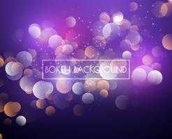 Kreative Bokeh-Lichter und Funkelnhintergrund Vektor