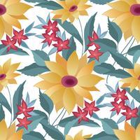 Nahtloses stilvolles mit Blumenmuster. Frühlingsblume Hintergrund
