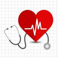 Hjärtvård ikon vektor