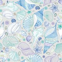Muschel nahtlose Muster. Sommerurlaub Marine Hintergrund