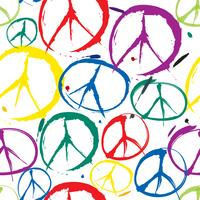 Friedenszeichen Muster Nahtloser Hintergrund des Friedenssymbols. Frieden. Peac