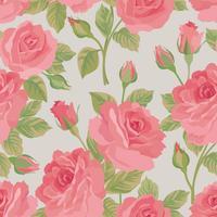 Blommigt sömlöst mönster. Blomma bakgrund. Blommig trädgårdsteknik