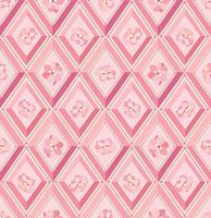 Blomönster Mjölka kaklat bakgrund. Diamantlinje prydnad