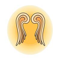 Flügel Engel Zeichen Umriss Vektor-Illustration