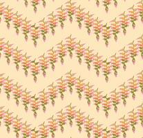 Blombladmönster. Sömlös bakgrund. Natur virvelblad prydnad