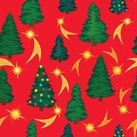 Julgran sömlös mönster. Vinterferie blommig bakgrund