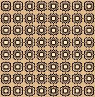 Sömlöst linjemönster. Abstrakt blommig prydnad. Geometrisk struktur