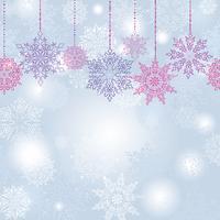 Snö oskärpa sömlöst mönster Jul Vinter helgdag snö bakgrund