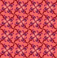 Orientalisk linjemönster abstrakt blommigt prydnad virvlar tyg bakgrund