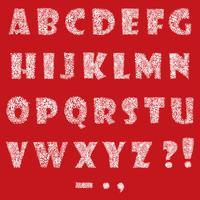 Alphabet gesetzt. Weihnachten Winterurlaub Dekor lateinischen Buchstaben