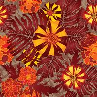 Blommigt sömlöst mönster. Blomma bakgrund. Blommig trädgård vektor
