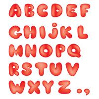 Alphabet. Kinder Stil Linie lateinischen Buchstaben Zeichen Alphabet