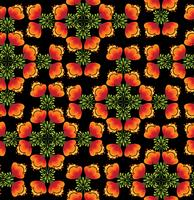 Oriental blommönster Abstrakt blommigt prydnad Swirl tyg bakgrund vektor