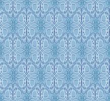 Windung Blumenmuster. Abstrakte Verzierung. Brokat nahtlose Hintergrund vektor