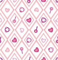 nahtloses Baby Spielzeug Muster, Kinderspielzeug Diamantverzierung vektor
