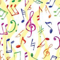 Musikmönster. Musik anteckningar och skyltar sömlös bakgrund