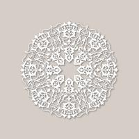 Ornamental rund blommönster. Mandala orientalisk blomma prydnad